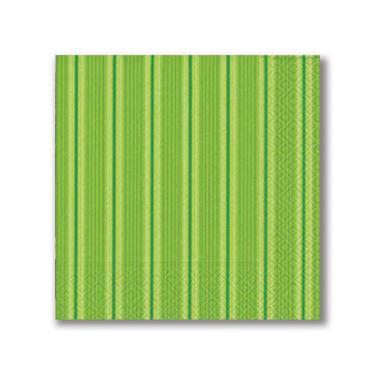 Guardanapo Basic Unique Stripes Green 33X33 cm Paper Design