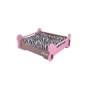 Caminha Pet Osso-Osso Pink e Marrom M - Ibiyaya