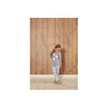 Pijama Infantil Feminino menina Longo Nuvens