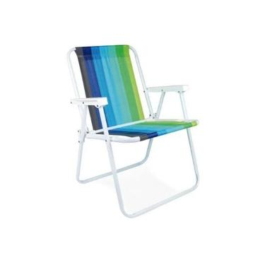 Cadeira de Praia e Piscina Alta Aço Reforçada 110 kg - MOR