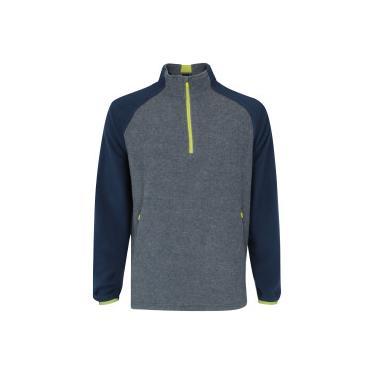 5f00f1dba80d2 Blusa de Frio Fleece Nord Outdoor Bicolor - Masculina - Cinza Esc Azul Esc  Nord