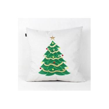 Almofada Decorativa Premium Requinte Árvore de Natal Decorada