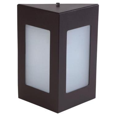 Arandela Triângular Luminária Externa Interna Parede Alumínio Marrom - Rei da Iluminação