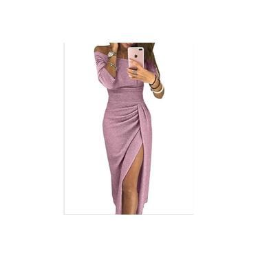 rosa-2XL Vestido De Festa Longo Sereia Formatura