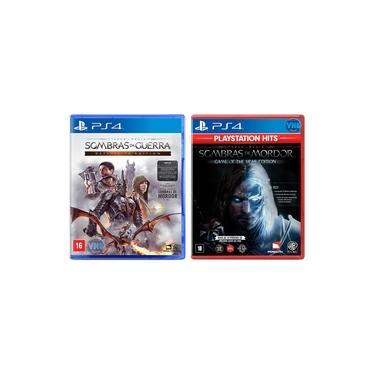 Sombras de Mordor GOTY Edição Jogo do Ano + Sombras da Guerra Definitive Edition - PS4