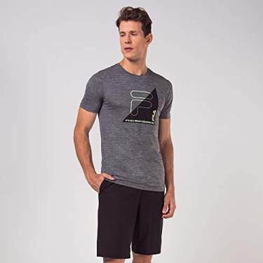 Camiseta Fila Training Cinza/Preto 2M
