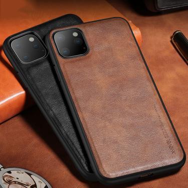 Capa de couro para o iphone xr 11 12 pro max xs max x 8 7 6s plus caso original à prova de choque