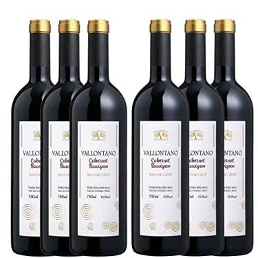 Kit 6 Vinho Tinto Brasileiro Vallontano Cabernet Sauvignon Reserva 2015