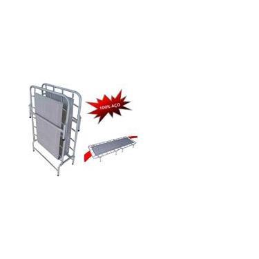 Cama Dobrável de Campanha em Aço Com Molas Sem Colchonete H-155 - Hashigo