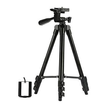 Suporte para câmera de vídeo com tripé TOPMountain, suporte triangular com clipe para telefone celular U para viagem - prata