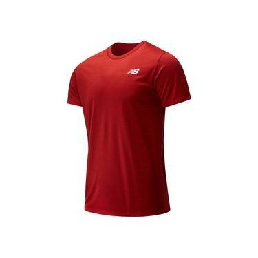 Camiseta de Manga Curta New Balance Sport Tech | Masculino Vermelho - M