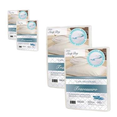 Imagem de Capa De Travesseiro Protetora Sleep Dry Impermeável 4 Peças