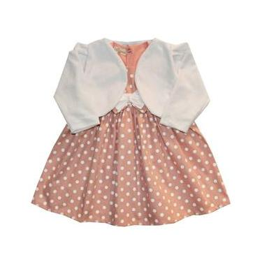 Vestido de Bebê Glamour Poá