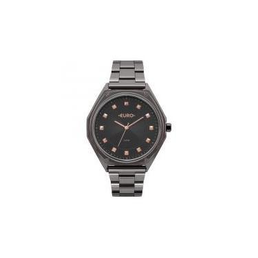 15410bb0202 Relógio Euro Feminino Ref  Eu2035yop 4c Fashion Black