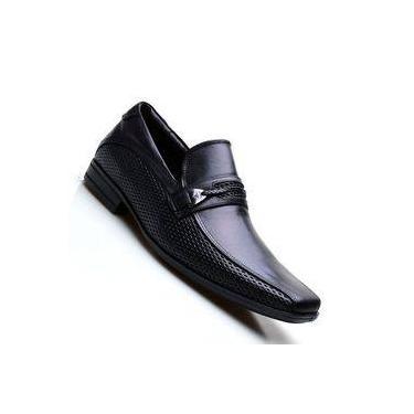 0f0163b00 Sapato Social Masculino em Couro com Fivela na Pala Calvest 2300C614