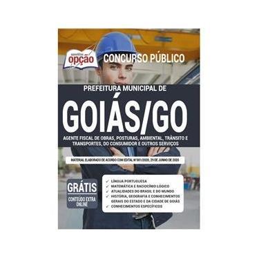 Imagem de Apostila Goiás Go Agente Fiscal - Obras Posturas Ambiental