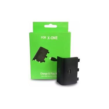 Bateria Recarregável E Cabo Usb Para Controle Xbox One + Carregador Base