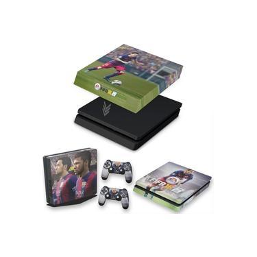 Capa Anti Poeira e Skin para PS4 Slim - Fifa 16