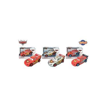 Imagem de Kit 3 Carrinhos Relâmpago Mcqueen Fricção com Luz e Som Carros 3 Toyng