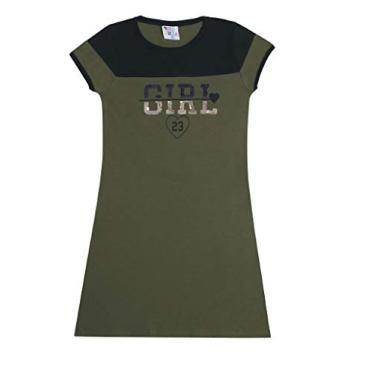 Vestido Juvenil 12 ao 18 Pulla Bulla Ref. 44410 Cor:Verde;Tamanho:14