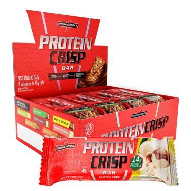 Protein Crisp Bar - 12 Unidades 45g Leite Nino com Creme de  Avelã - IntegralMédica