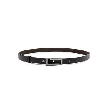 Cinto Social Feminino Pierrô largura de 2 cm preto em couro