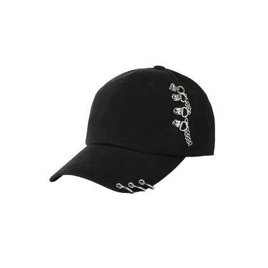 Boné de beisebol de prata chique dos anéis-chapéus do camionista com correntes anéis, boné de beisebol ajustável do hip hop do snapback dos homens das