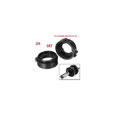 2Pcs H7 escondeu Lâmpadas LED Retentores de suporte de adaptador de farol para vw MK6 Golf gti 10-14
