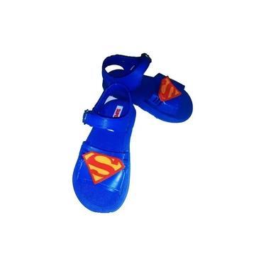 Imagem de Sandálias Chinelos Infantil Bebe Personagens Super Homem
