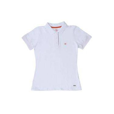 Camisa Polo Feminina Branca Wrangler 19776 9560bdd7d18fe