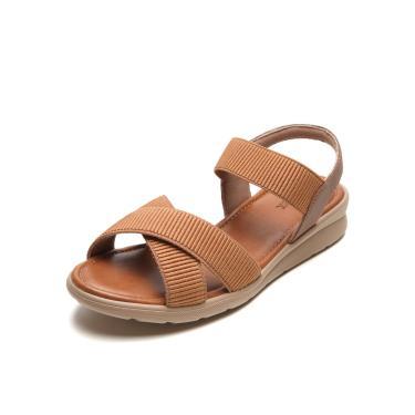 Sandália Usaflex Tiras Elásticas Caramelo Usaflex AC2303 feminino