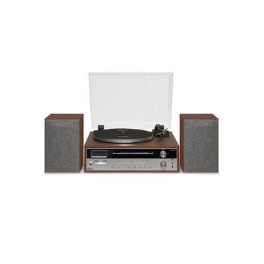 Vitrola Raveo Orpheus - Toca discos, Rádio FM, CD, CD-R, USB com Par de Caixas Acústicas 60W Bivolt