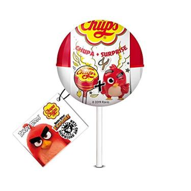 Pirulito Chupa Chups Surprise Angry Birds Morango   12g