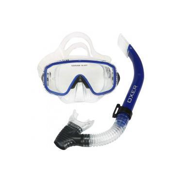 8f93e3ce9 Kit de Mergulho  Snorkel e Máscara de Mergulho Oxer Argus - Adulto - AZUL  Oxer