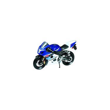 Imagem de Welly Die Cast Motorcycle Blue Suzuki GSX-R750, 1:18 Scale Importado