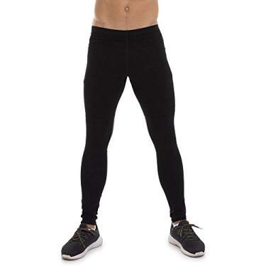 Legging Calça Masculina Fitness Compressão Térmica (Preto, G)