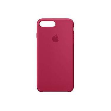 Capa para iPhone 8 Plus / 7 Plus em Silicone - Rose Red