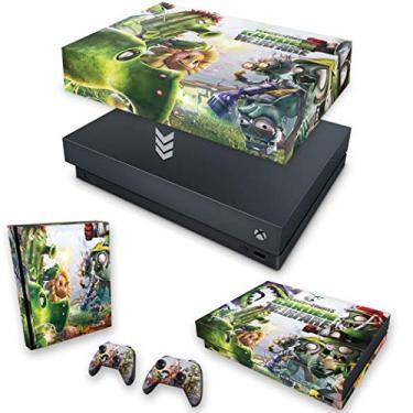 Capa Anti Poeira e Skin para Xbox One X - Plants Vs Zombies Garden Warfare