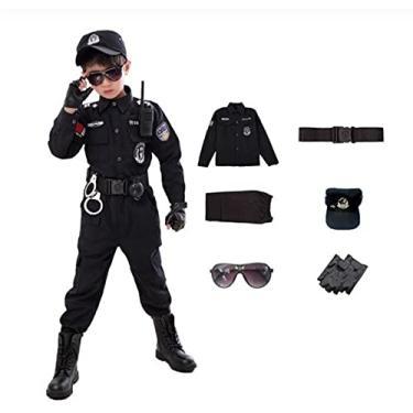 Imagem de Fantasia Infantil De Policial Conjunto P/Festas Halloween (POLICIAL, 110CM)