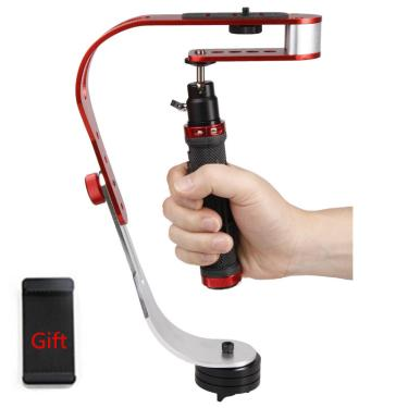 Imagem de Mini estabilizador de câmera digital, suporte de alumínio com tripé, steradicam mobile dslr 5dii