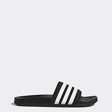 Imagem de adidas Adilette Comfort Chinelo masculino, Black/White/Black, 5