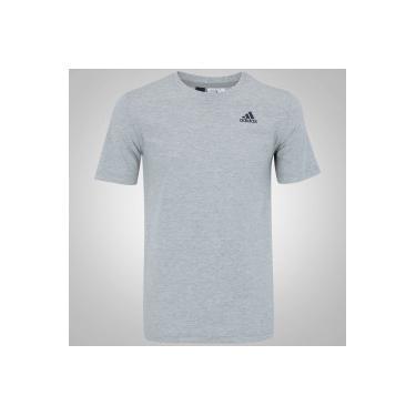 Camiseta adidas Essentials Base - Masculina - CINZA CLARO adidas aab451c616011
