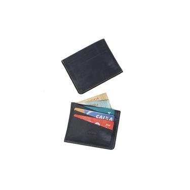 Carteira Slim Pequena Porta Cartao Pc70 Azul Petroleo