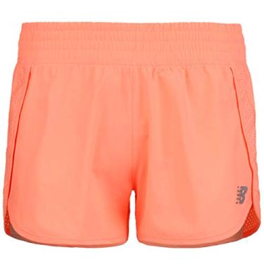 "Short New Balance 3"" Core Stretch Woven Feminino Laranja - G"