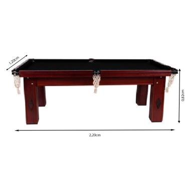 Mesa De Bilhar Snooker Procópio Magno E Ardósia 2,20X1,20M