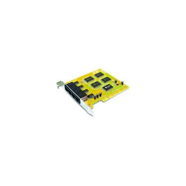 Placa PCI c/ 4 Portas RS232 Conector RJ45 - Sunix