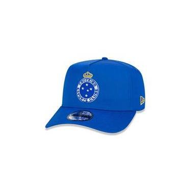 Bone 9Forty A-Frame Aba Curva Ajustavel Cruzeiro Futebol Aba Curva Azul New Era