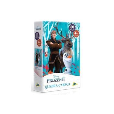 Imagem de Quebra Cabeça - 60 Peças - Disney - Frozen II - Kristoff, Sven e Olaf - Toyster