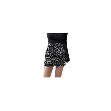 Saco fino feminino saia quadril saia de leopardo com cintura alta saia de veludo dourado