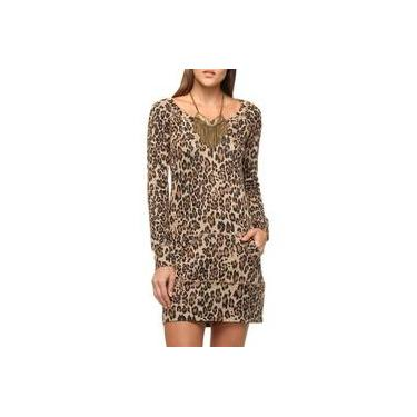 Vestido Casual Daniele Mabe Donna Animal Print